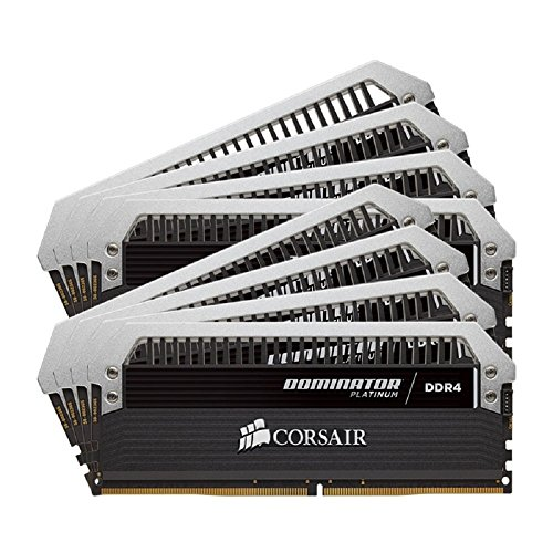 Corsair CMD128GX4M8A2666C15 Dominator Platinum Kit di Memoria per Desktop a Elevate Prestazioni, DDR4 128 GB, 8 x 16 GB, 2666 MHz, Nero