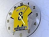 FanPlastic Ruben NEVES 8 WOLVERHAMPON Wanderers FC Fußball-Wanduhr - Limited Edition