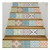 SERFGTFH Mosaik Fliesen Treppe Aufkleber Selbstklebende Wasserdichtem PVC-Aufkleber