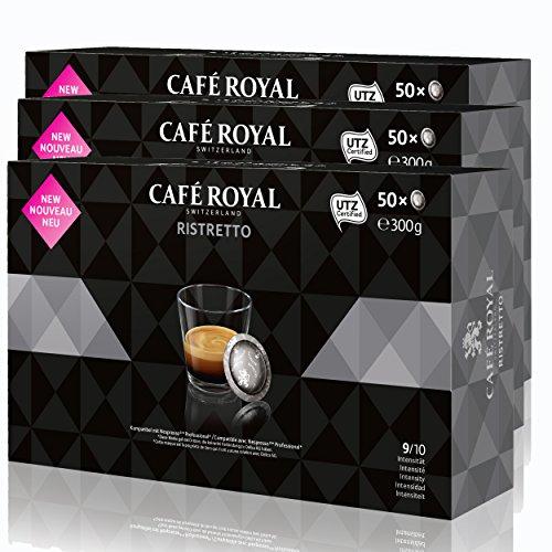 CAFÉ ROYAL Office Pads Ristretto Café, Café Tostado, Sistema de Cápsulas, Nespresso Professional Compatible, 150Pads
