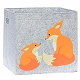 Aufbewahrungsbox Kinderzimmer/Spielzeugkorb LuckySign-Care (Fuchs)
