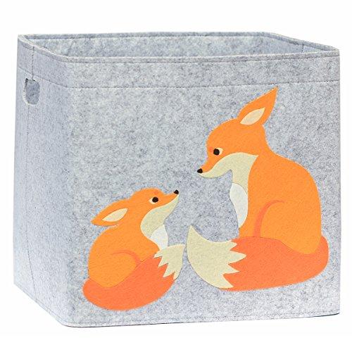*Aufbewahrungsbox Kinderzimmer/Spielzeugkorb LuckySign-Care (Fuchs)*