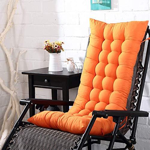 Txyfyp giardino reclinabile cuscini, giardino esterno universale cotone pad tempo libero cuscini per sole sedie a sdraio, panchine - arancione, free size