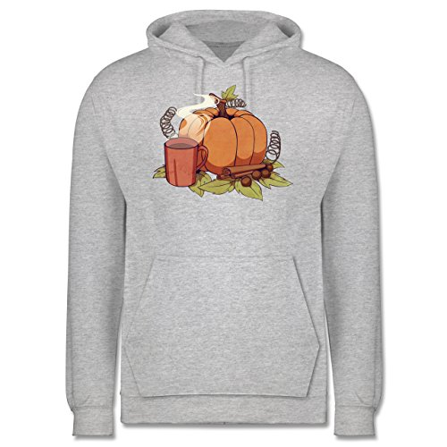 Statement Shirts - Pumpkin Spice - Männer Premium Kapuzenpullover / Hoodie Grau Meliert