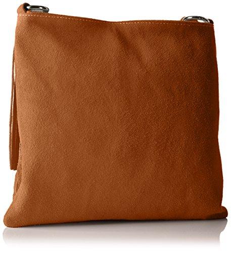 Bags4Less Shopper / A tracolla Modello: Raluca mihaela Borsa con frange / varie Colori a scelta Taglie: 30cm X 30cm X 10cm con regolabili Cinghia - sabbia, Pelle, Small, small (Cognac)