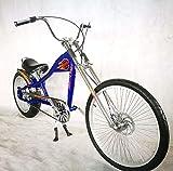 Rosetta Sport LA Fahrrad Lowrider MO Chopper Bike Harley Cycle Cruiser M blau