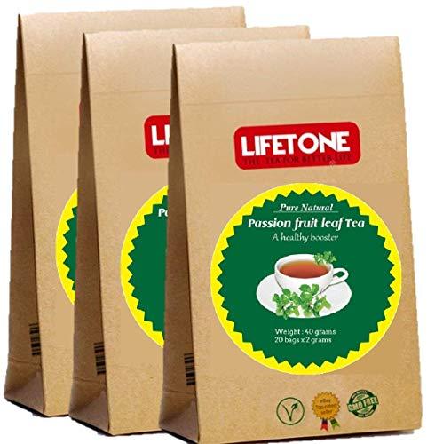 Té de hoja de maracuyá | Té para aliviar el estrés | Deliciosas 60 bolsitas de té envueltas individualmente