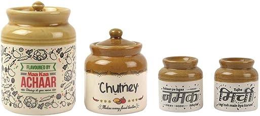 Ek Do Dhai Classic Pickle Chutney Salt Pepper Jar Combo