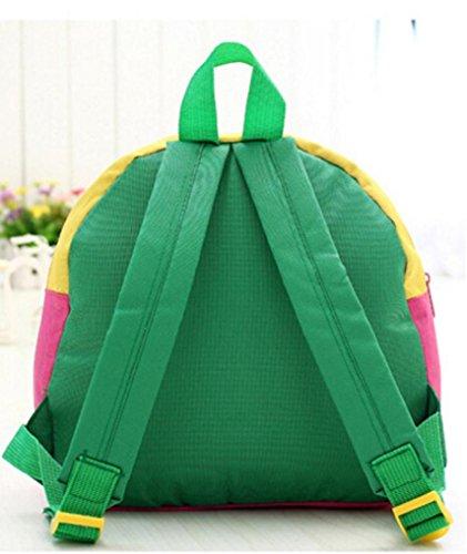 Koly Zaino del bambino Toddler Kid School Bags Kindergarten Sacchetti di spalla del fumetto (Yellow) Green
