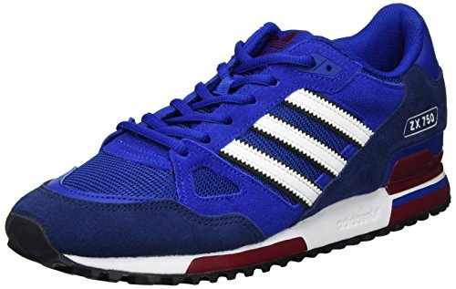 Adidas Herren ZX 750 Sneaker Low Hals, Blau (Collegiate Royal/Ftwr White/Dark Blue), 44 EU