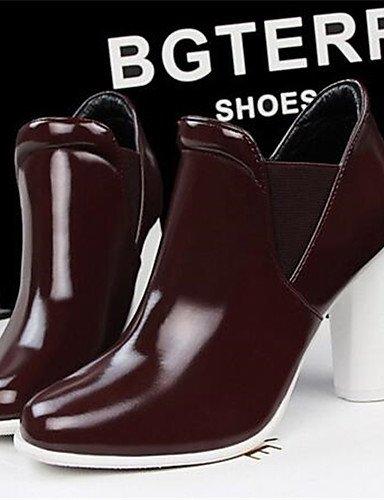WSS 2016 Chaussures Femme-Bureau & Travail / Décontracté-Noir / Bleu / Blanc / Bordeaux-Gros Talon-Talons-Talons-Similicuir white-us7.5 / eu38 / uk5.5 / cn38