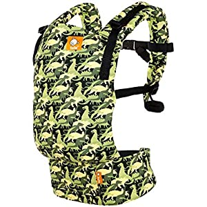 Baby Tula Free-to-Grow Baby Carrier, Adjustable Newborn to Toddler Carrier, Ergonomic and Multiple Positions for 7 - 45 pounds - Camosaur   9