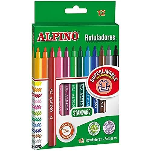 material escolar para la vuelta al cole Alpino AR001002 - Pack de 12 rotuladores, colores surtidos