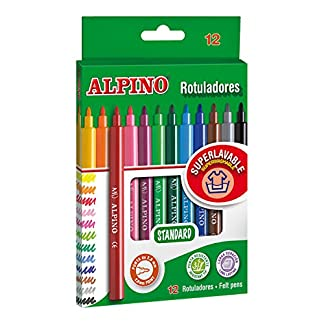 Alpino AR001002 – Pack de 12 rotuladores, colores surtidos