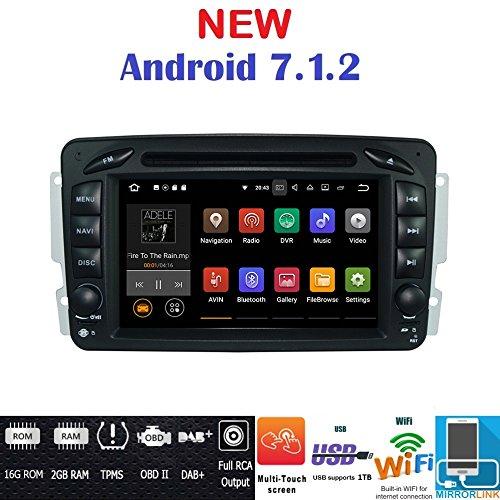 Android 7.1GPS DVD USB SD Wlan Bt Autoradio 2Din NAVI Mercedes C-Klasse W203/CLK-Klasse W209/A-Klasse W168/G-Klasse W463/E-W210/Vito/Viano/ (Usb A210)