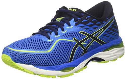 ASICS Men's Gel-Cumulus 19 Directoire Blue/Peacoat/Energy Green Running Shoes - 11 UK/India (46.5 EU)(12 US)