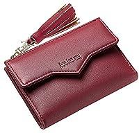 Seaoeey Women Classic Buckle Purse Leather Clutch Wallet Multi Card Organizer
