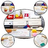Antihafte rutschfeste Backunterlage/Backmatte Silikon Groß 65x50cm!12 Muffinform kostenlos! Ausrollmatte Teigmatte Silikonmatte Backfolie Arbeitsmatte mit Messung zu Fondant Pizza Matte MM Amazing