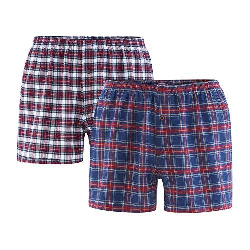 Living Crafts Boxer-Shorts, 2er-Pack L, Tartan -