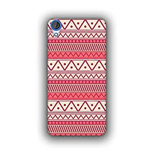 Caseque (Pro) Aztec Tribal Seamless Pink Back Cover For HTC Desire 820