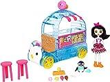 Enchantimals FKY58 - Eiswagen Spielset, inkl. Preena Penguin Puppe und Tierfreund Jayla