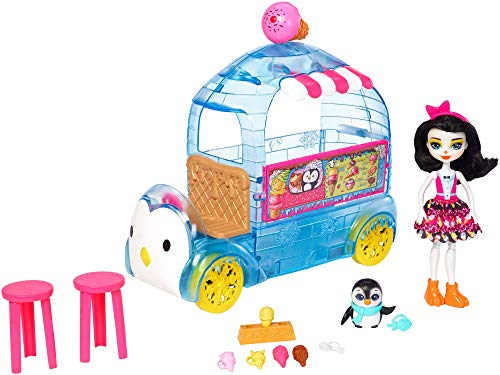 Mattel Enchantimals Wheel Frozen Treats Preena Penguin Doll & Playset FKY58, Playset y Muñeca