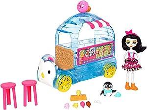 Mattel Enchantimals Wheel Frozen Treats Preena Penguin Doll & Playset FKY58, Playset y Muñeca