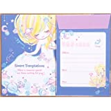 Lindo juego papel de carta azul claro estrella niña diamante de Japón