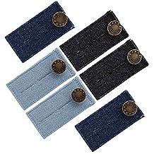 Naler 6pcs Button Extenders, Extension de Taille de Crochet de Bouton pour  Jean Pantalons Chemises dc75d9e69276