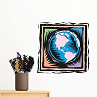 DIYthinker Alter Mysterious Blue Earth Mexikanische Kultur Element  Gravieren Entfernbarer Wand Aufkleber Kunst