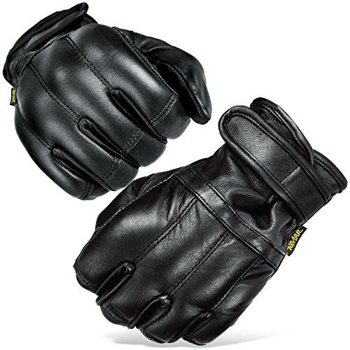 Black Snake Herren Quarzsandhandschuhe Quarzsand Handschuhe S-XXL Defender in schwarz Security Schwarz/Kevlar XXL