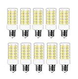 RANBOO E14 LED Lampe 10w Ersatz 80W Halogenlampen, 800LM, Kaltweiß 6000K, AC 220-240V, LED Birnen für Kronleuchter, Wandlampe, Kühlschrank und Dunstabzugshaube, Nicht Dimmbar, 10er Pack