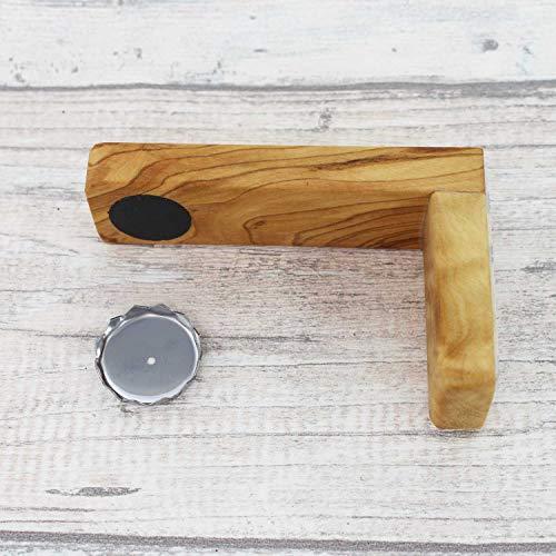 Magnetseifenhalter aus Olivenholz - Seifenhalter Holz - Selbstklebende Seifenablage für Badezimmer - Handmade - Badzubehör