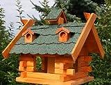 Vogelhaus rechteckig behandelt grün Typ 8