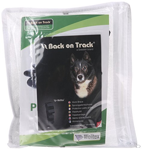 Back on Track Therapeutic Dog Rear Leg/Hock Brace (Pair) Medium 7.8-Inch Length, 6.25 to 6.75-Inches Top Width, 4.75 to… 1