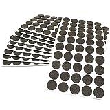 500 x almohadillas de fieltro, Ø 22 mm, redondas, marrón, autoadhesivas, de la máxima calidad (3.5 mm)