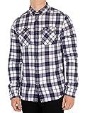 Superdry Herren Rookie Ridge Hemd, Blau, Medium