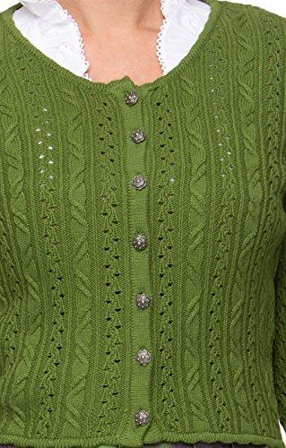 Trachten Strickjacke Liz grün, 36 -