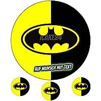 Tortenaufleger Geburtstag Tortenbild Zuckerbild Oblate Batman 06