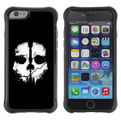 Graphic4You ARTISTIC SKULL Muster Shockproof Anti-Rutsch Weichen Hülle Case Tasche Schutzhülle für Apple iPhone 6 Plus / 6S Plus Design #4
