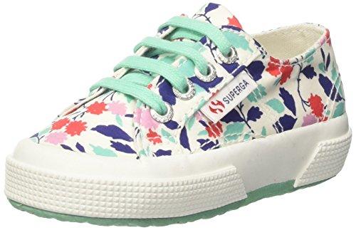 Superga 2750-Fabriclibertyj, Sneaker a Collo Basso Bambina Multicolore (Floral Red/Aqua)