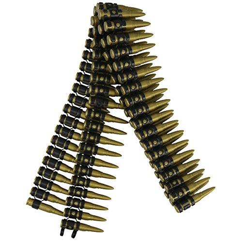 Kombat UK Kids Kunststoff Spielzeug Bullet Gürtel, Gold, One Size