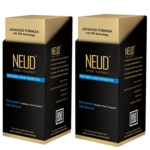 Neud Permanent Hair Reduction For Unwnated Body Hair & Facial Hair Pack Of 2