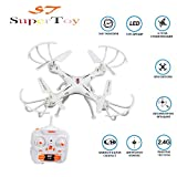 #9: SuperToy(TM) Drone Professional Quadcopter 360° Drone with 2.4G Rc Helicopter Toy One Key Return Without Camera
