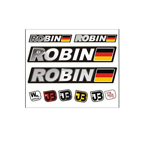 JOllify ROBIN Auto Fahrrad Motorrad Kart Helm Fahrername Aufkleber Sticker Flagge (Robin Fahrrad)