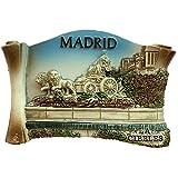Imán para nevera, diseño de Madrid España Europa, resina 3D, ideal como recuerdo, regalo de turismo, imán chino hecho a mano, creativo para el hogar y la cocina, adhesivo magnético