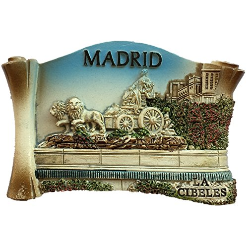 Fridge magnet, Madrid Spain Europe design, 3D resin, ideal as souvenir, tourist gift, handmade Chinese magnet, creative for home and kitchen, magnetic adhesive