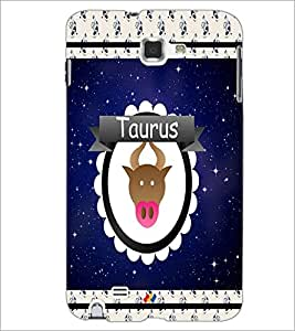 PrintDhaba Zodiac Taurus D-2765 Back Case Cover for SAMSUNG GALAXY NOTE 1 (Multi-Coloured)