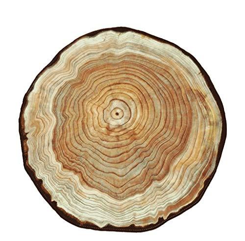 Decke XINGUANG Teppich, einfach und individualisiert Holzfarbe Jährliche Sesselbahn Runder Teppichboden (Größe: Durchmesser 60-120 cm) Teppich (größe : Diameter 120cm)