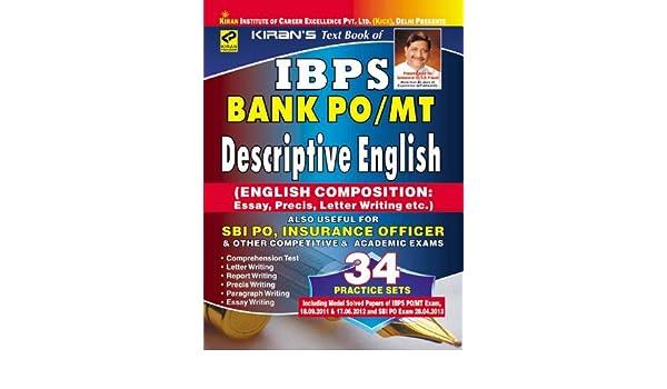 Descriptive English Book For Bank Po